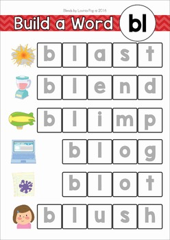 Blends Worksheets and Activities - BL FREE