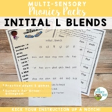 Initial L Blends Orton-Gillingham Level 1 Multisensory Phonics Activities
