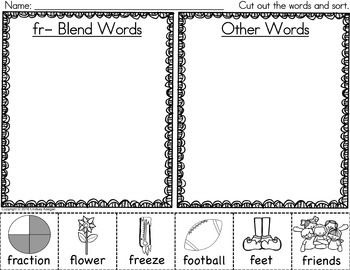 R Blends Activities Bundle