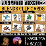 Blends Activity Clip Cards Growing Bundle