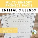 Initial S Blends Orton-Gillingham Activities Multisensory Phonics