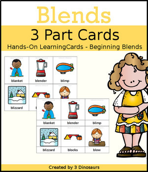 Blends 3 Part Cards