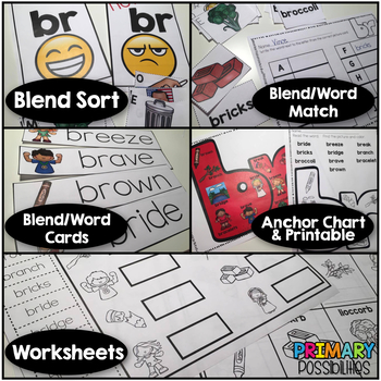 Blends Activities and Worksheets ** FR Blend **