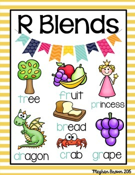 Blends Activities (r, l, and s blends)