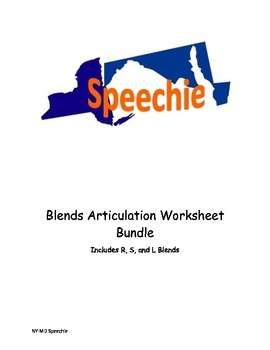 Blends Articulation Worksheet Bundle