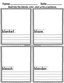 Word Work: Blends - BL and CL