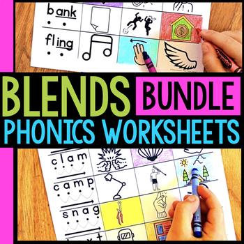 Blends BUNDLE Worksheets & Activities No-Prep Phonics Worksheets
