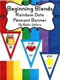 Blends - Beginning Blends and Digraphs Rainbow Classroom Decor Pennant Banner