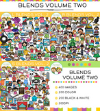 Beginning Consonant Blends Clip Art Big Bundle - VOLUME TWO