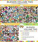 Beginning Consonant Blends Clip Art Big Bundle - VOLUME TWO