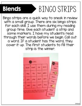 Blends Bingo Strips
