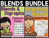 Beginning Blends Activities and Posters BUNDLE