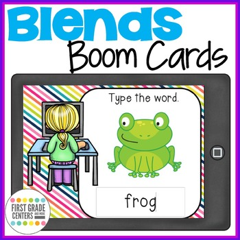 Blends Boom Cards Type the Words