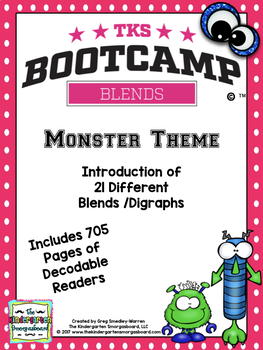 Blends Bootcamp:  Monster Theme