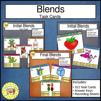Initial and Final Blends Task Cards