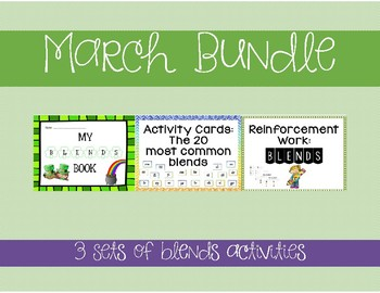 St. Patrick's Day/March Blends Bundle! *3 sets of blends activities*