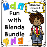 Blends Bundle / L Blends Interactive Lessons & Matching Cards / Montessori Style