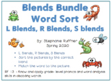 Blends Bundle: Picture Sort with Matching Words