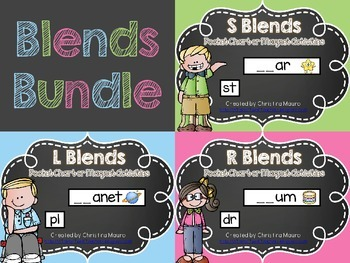 Blends Bundle {Pocket Chart or Magnetic Letter Activities}