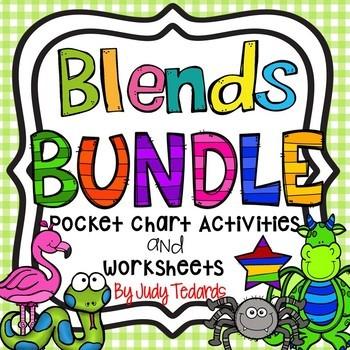 Blends Bundle (Pocket Chart Activities and Worksheets)