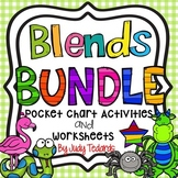 Blends Bundle (Pocket Chart Activities and Worksheets)