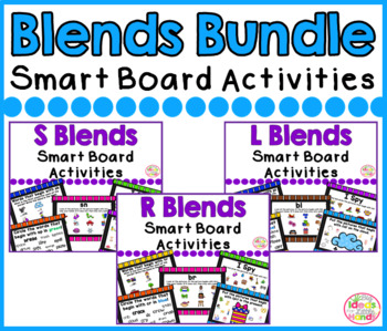 Blends Bundle Smart Board Activities Phonics and Sounds