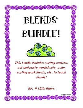 Blends Bundle! Sorting Centers and Worksheets