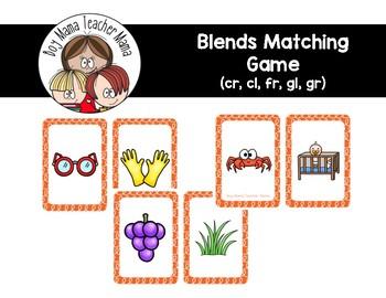 Blends Card Game (cr, cl, fr, gl, gr )