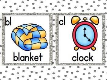 Blends Cards (Gray Glitter Polka Dot, Small Frame)