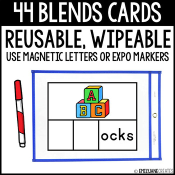 Blends Cards (Reusable, Wipable)