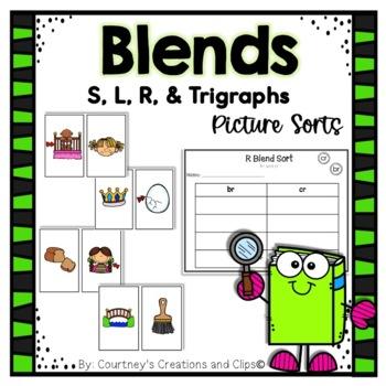 Blends Center Sorting Activities