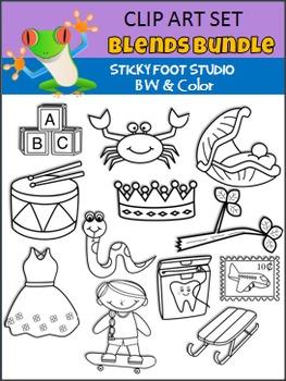Blends Clip Art Bundle (Sticky Foot Studio)