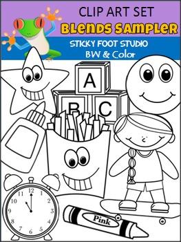 Blends Clip Art Sampler Set (Sticky Foot Studio)