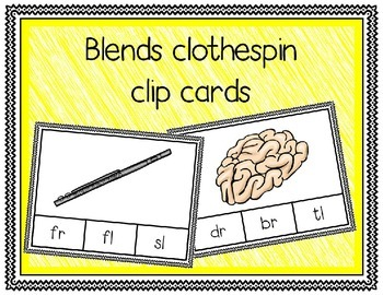 Blends Clothespin Clip Cards