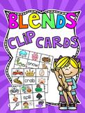 Beginning Blends Clip Cards Centers Bundle