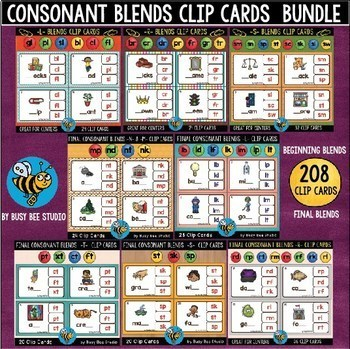 Blends Clip Cards Bundle