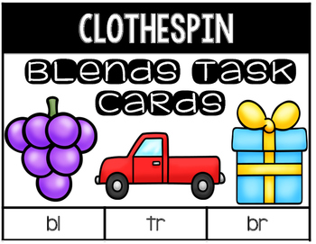 Blends Clothespin Task Cards
