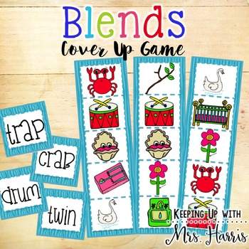Words with Blends - Blends Cover Up Game