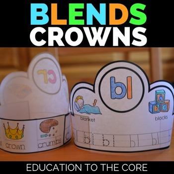 Blends Crowns   Blends Activities