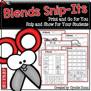 Blends Snip It Activities