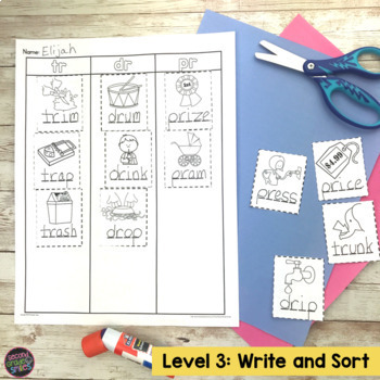 Blends Cut and Paste Word Sorts