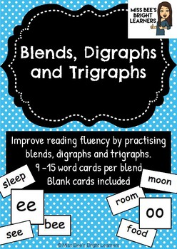 Blends, Diagrams and Trigraphs Reading Intervention