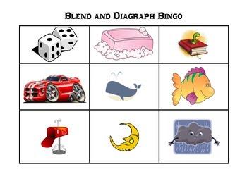 Blends & Diagraphs Bingo