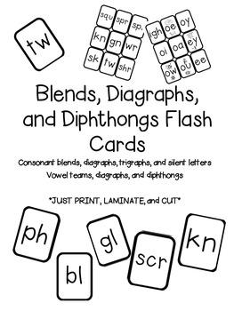 Blends & Diagraphs Flass Cards
