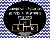 Blends & Diagraphs Posters - Rainbow Chevron