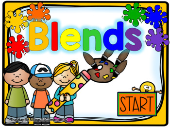 Blends Digital and Printable Task Cards PowerPoint Games