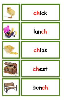 Blends, Digraph, and Long Vowel Words