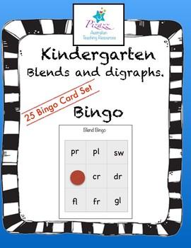 Blends, Digraphs Bingo
