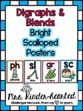 Blends & Digraphs Posters w/ Digital Learning Routine (D'Nealian Included)