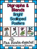 Blends & Digraphs Posters w/ SmartBoard Routine (D'Nealian